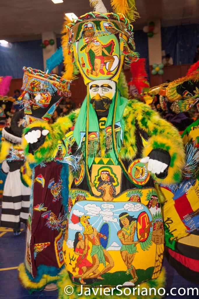 Domingo, 18 de Marzo, 2018. Ciudad de Nueva York – XVI Festival Folklórico Mexicano.  Comparza Guadalupana - Chinelos.    Foto por Javier Soriano/www.JavierSoriano.com