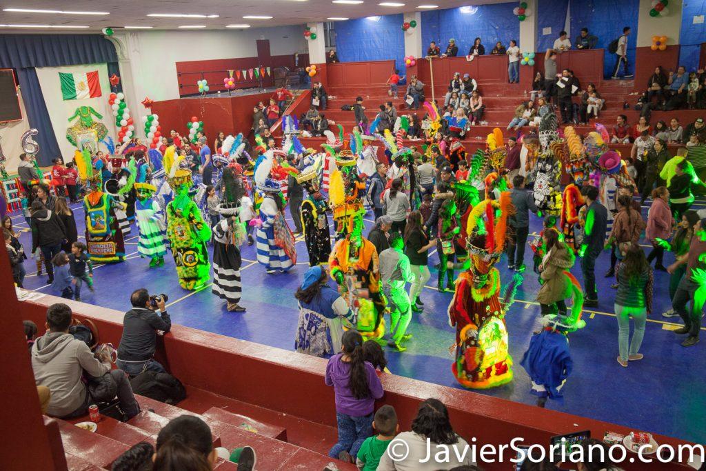 Domingo, 18 de Marzo, 2018. Ciudad de Nueva York – XVI Festival Folklórico Mexicano.  Comparza Guadalupana - Chinelos y gente bailando.    Foto por Javier Soriano/www.JavierSoriano.com