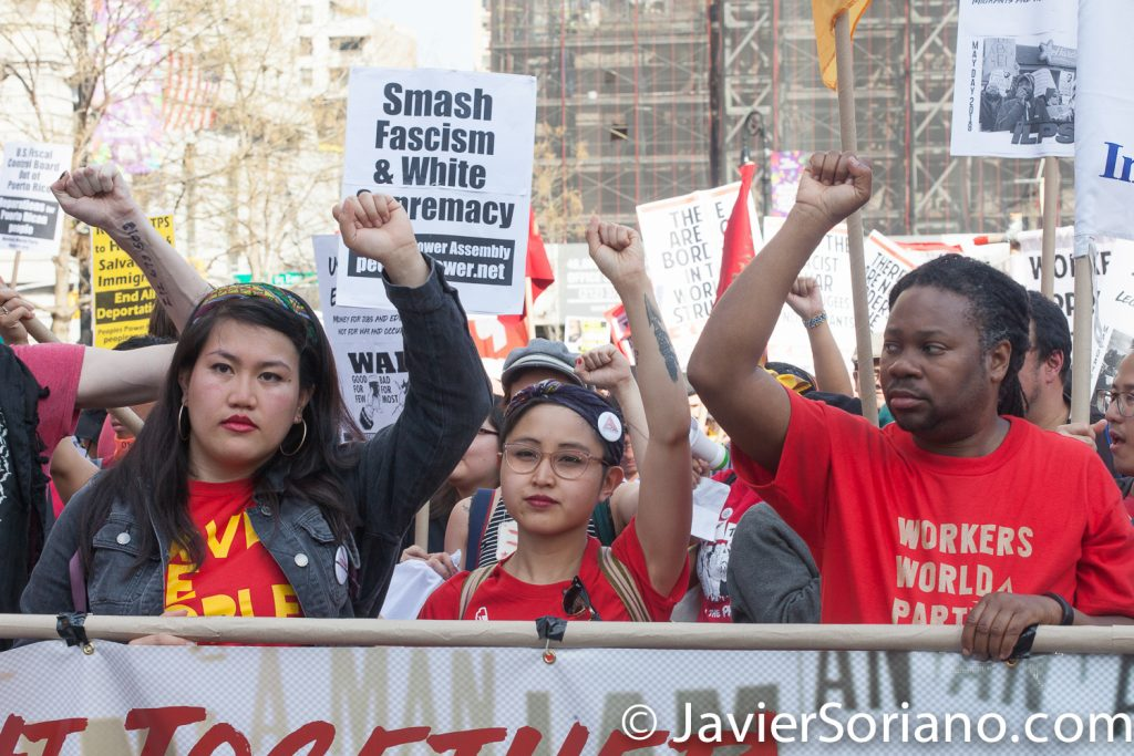5/1/2018. Union Square, Manhattan. New York City – International Workers' Day or May Day.  Photo by Javier Soriano/www.JavierSoriano.com