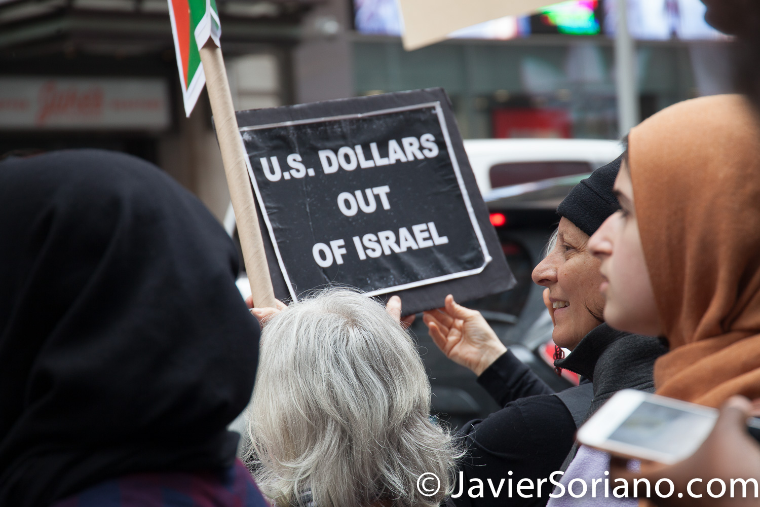 5/18/2018. New York City - Supporters of Palestine in Times Square. Photo by Javier Soriano/www.JavierSoriano.com