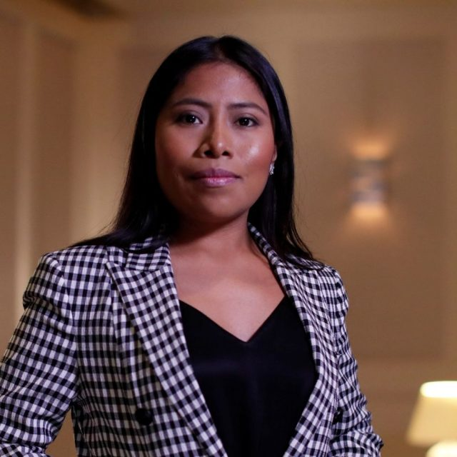 "REUTERS/Mario Anzuoni Mexican actor Yalitza Aparicio, who is nominated for an Oscar for Best Actress for ""Roma,"" poses for a portrait in West Hollywood, California, U.S., February 15, 2019."
