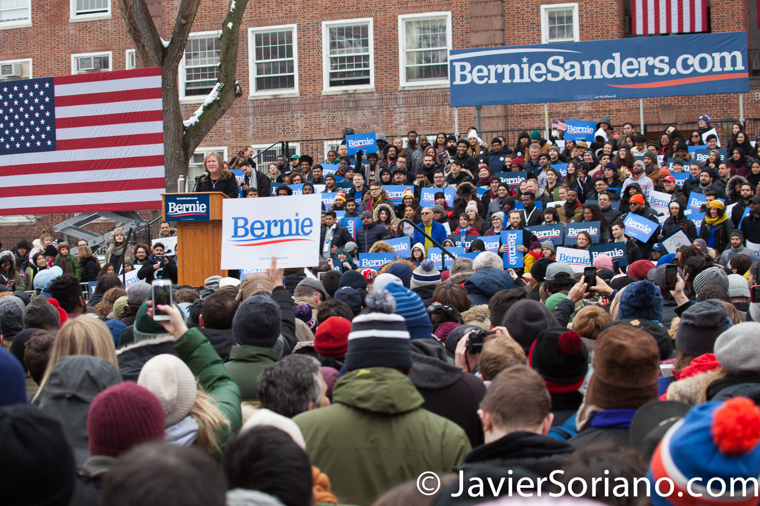 Saturday, March 2, 2019. Brooklyn College. Brooklyn, New York City. Jane O'Meara Sanders, wife of Bernie Sanders and more than 10 thousand supporters of U.S. Senator and presidential candidate Bernie Sanders. This was the first event of his 2020 presidential campaign. Photo by Javier Soriano/www.JavierSoriano.com