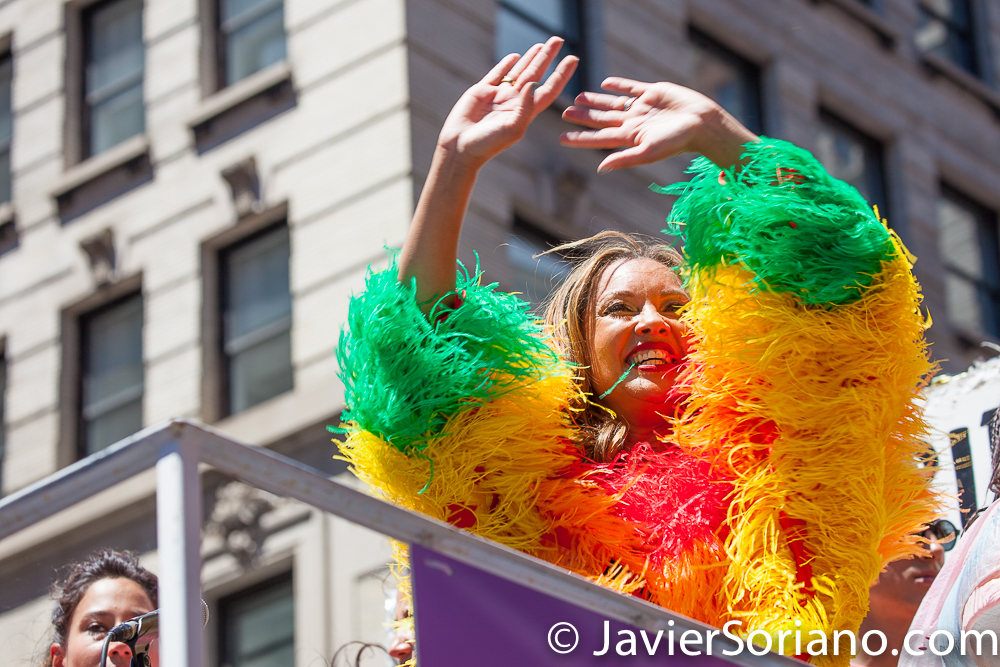 The NYC Pride March was yesterday, Sunday, June 30th, 2019. The 50th anniversary of the Stonewall Rebellion was on Friday, June 28th, 2019. This year, for the first time WorldPride was held in the United States of America (New York City). People from around the world came to New York City to celebrate. Photo by Javier Soriano/www.JavierSoriano.com