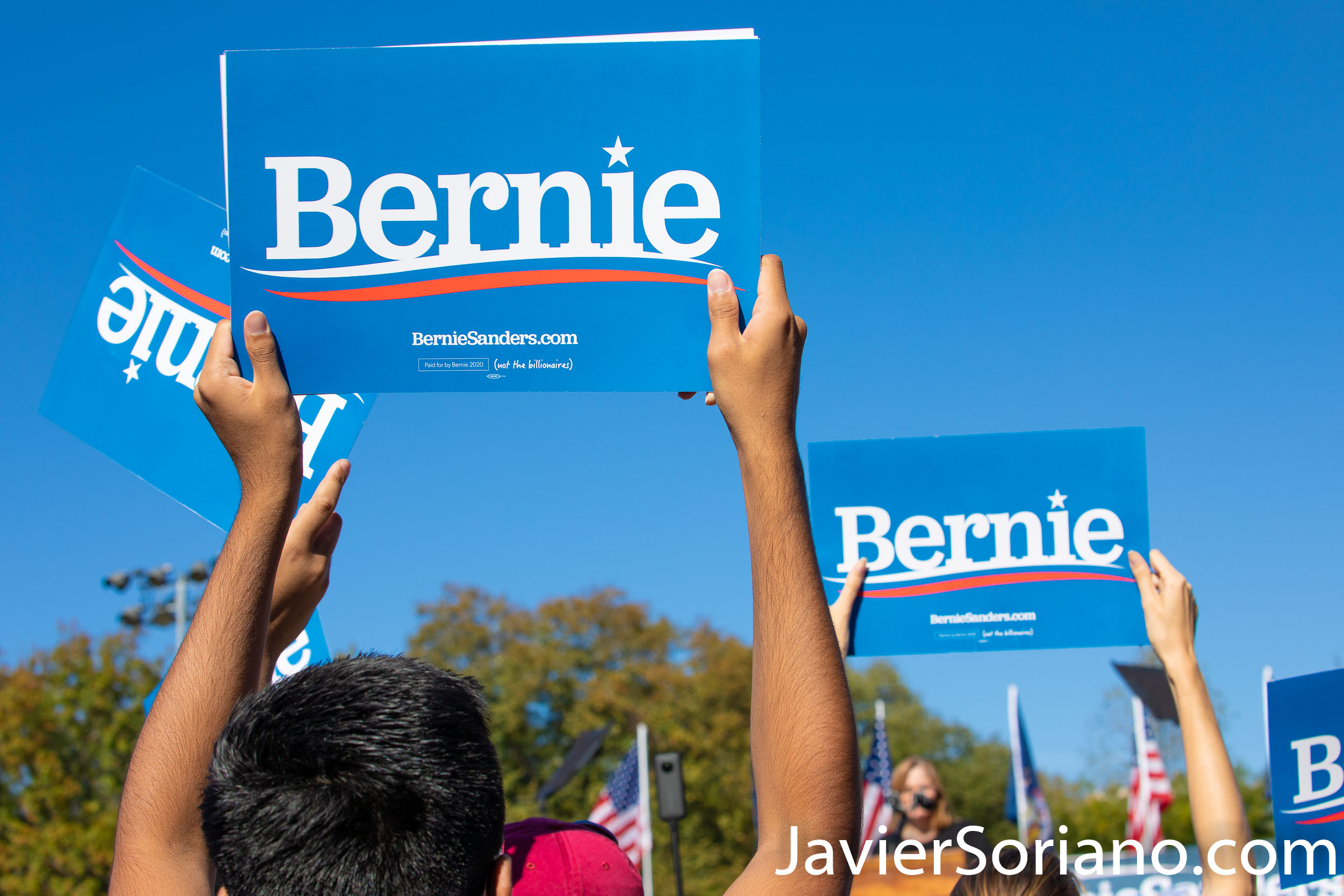 Saturday, October 19, 2019. Queens, New York City - Bernie Sanders had a rally in Queens today. Almost 26 thousand people attended the event. Photo by Javier Soriano/www.JavierSoriano.com