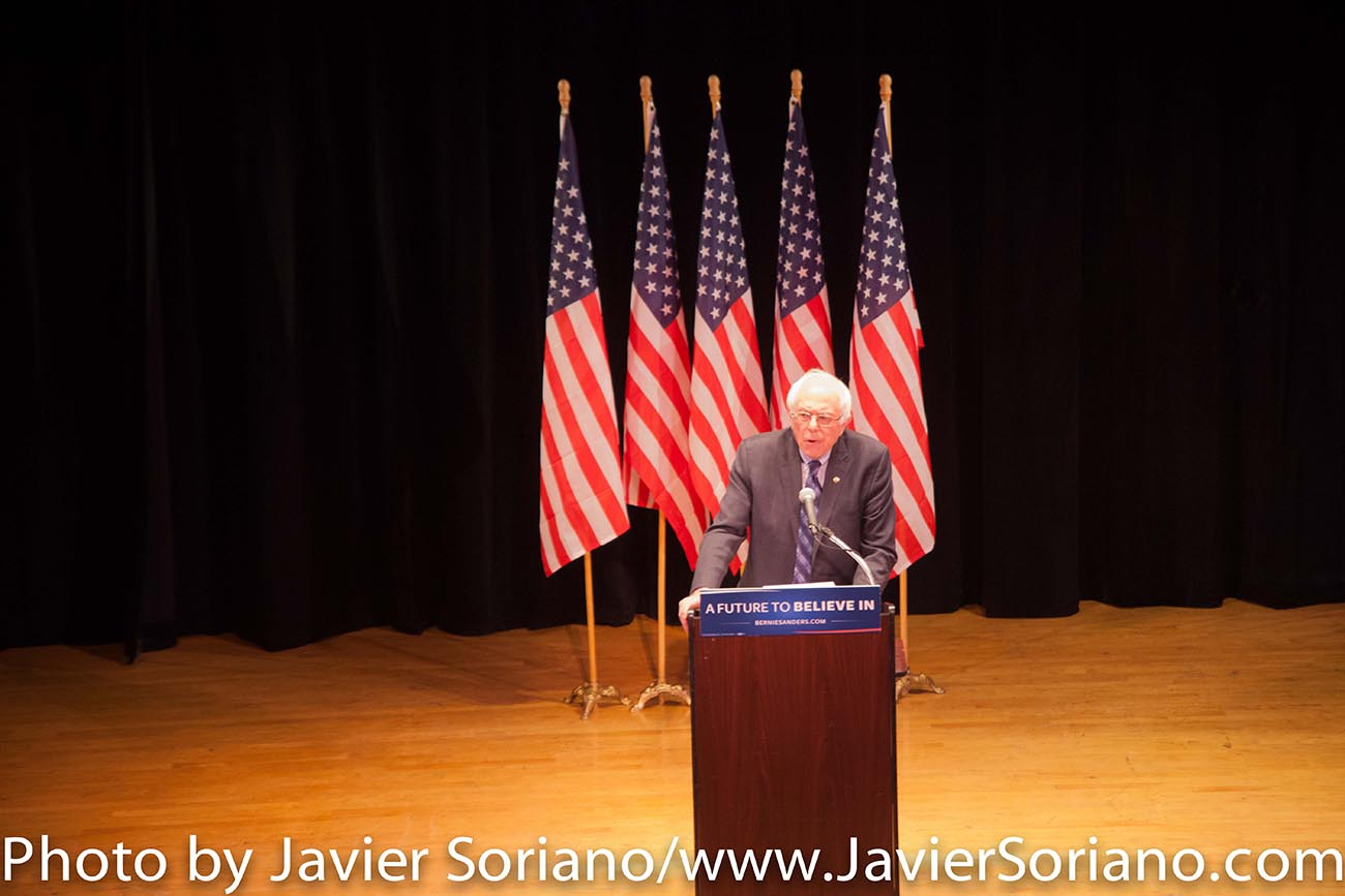 1/5/2016 Manhattan, NYC – Bernie Sanders at the Town Hall in New York City. Photo by Javier Soriano/http://www.JavierSoriano.com/