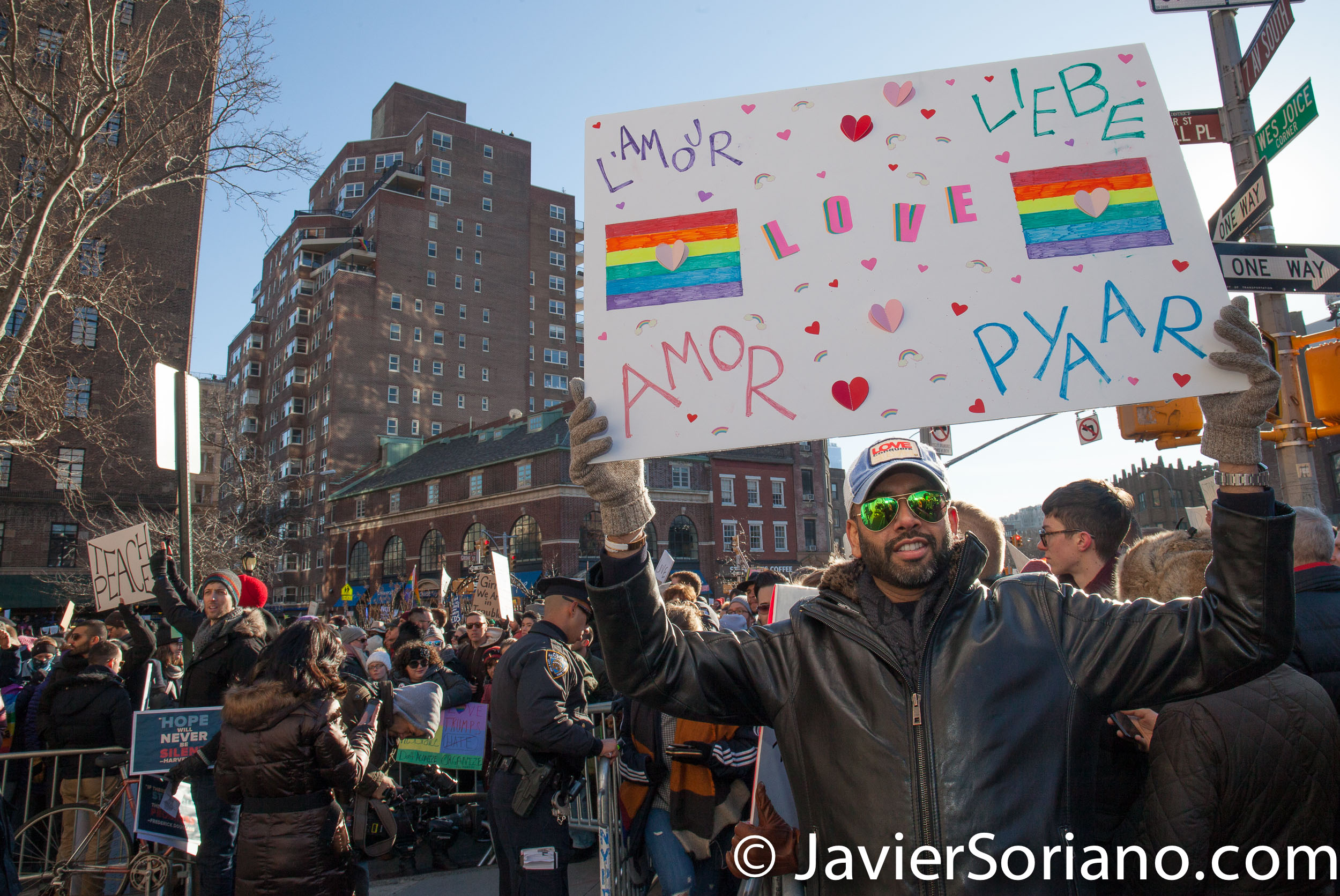 2/4/2017 NYC – LGBT Solidarity Rally at Stonewall Inn in support of immigrants, refugees, Muslims, ALL. Photo by Javier Soriano/www.JavierSoriano.com