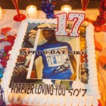 """""""Happy G-Day Kiki"""" and """"Forever loving you 50'Z"""".  Kimani Gray would have been 17 today, 10/19/2013.  He was killed on 3/9/2013 by two NYPD agents."""