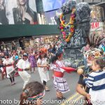 Sunday, September 21, 2014 - People's Climate March. Indigenous dancers. Times Square.