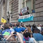 """9/22/2014. NYC - """"Respect our mother"""" """"Flood Wall St.)"""