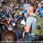 9/22/2014. NYC - A man speaks to the protesters (Un hombre habla a los manifestantes).