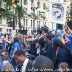 9/22/2014. NYC - Protesters on Broadway and Wall St. (Los manifestantes en Broadway y Wall St.).