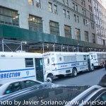 9/22/2014. NYC - Buses for the arrested people (autobuses para las personas arrestadas).