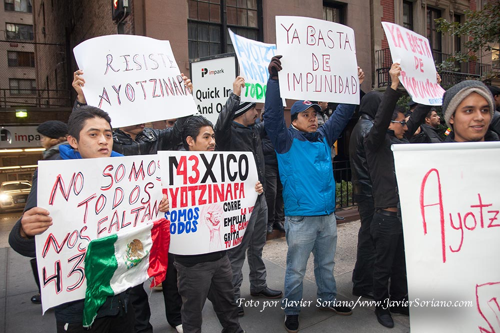 Thursday, November 20, 2014 NYC - Photos from the global day of action to demand justice for the 43 missing students in Ayotzinapa and all the victims of Mexican state violence and US imperialism.