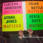 "12/13/2014 Millions March NYC. - ""Tanisha Anderson Matters"" ""Islan Nettles Matters"" ""Aiyana Jones Matters"" ""Rekia Boyd Matters"" Photo by Javier Soriano/http://www.javiersoriano.com/"