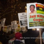 """12/19/2014 City Hall, NYC - Protestors against police brutally say, """"Justice for Ramarley."""" """"Jail killer cops!"""" Photo by Javier Soriano/www.JavierSoriano.com"""