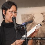 1/23/2015 NYC - Fay Chiang reading one her poems.   Photo by Javier Soriano/www.JavierSoriano.com