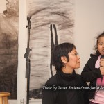 1/23/2015 NYC - Fay Chiang and a child singing.   Photo by Javier Soriano/www.JavierSoriano.com