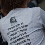 """6/18/2015 - Vigil in Union Square, NYC, for Charleston, South Carolina.  """"It is our duty to fight for our freedom. It is our duty to win. We must love each other and support each other. We have nothing to lose but our chains.""""_Assata Shakur, Assata: An Autobiography  Photo by Javier Soriano/http://www.JavierSoriano.com/"""