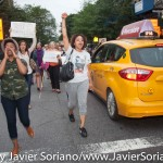 6/18/2015 - Activists traveling from Union Square to the First African Methodist Episcopal Church in Harlem. Photo by Javier Soriano/http://www.JavierSoriano.com/