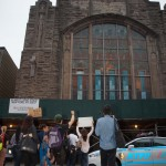 6/18/2015 - Activists from Union Square arriving to the First African Methodist Episcopal Church in Harlem. Photo by Javier Soriano/http://www.JavierSoriano.com/
