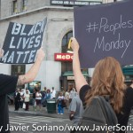 7/6/2015 Brooklyn, NYC - #PeoplesMonday activists shut down Church Ave and Nostrand Ave. Photo by Javier Soriano/http://www.JavierSoriano.com/