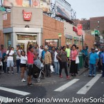 7/6/2015 Brooklyn, NYC - People in the community showing their support to #PeoplesMonday activists in East Flatbush. Photo by Javier Soriano/http://www.JavierSoriano.com/