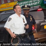 7/6/2015 Brooklyn, NYC - NYPD officers following #PeoplesMonday activists in East Flatbush. Photo by Javier Soriano/http://www.JavierSoriano.com/