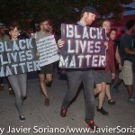 7/6/2015 Brooklyn, NYC - #PeoplesMonday activists walking to the 71 precinct. Photo by Javier Soriano/http://www.JavierSoriano.com/