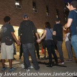 7/6/2015 Brooklyn, NYC - #PeoplesMonday demonstrators in front of the 71 precinct. Photo by Javier Soriano/http://www.JavierSoriano.com/