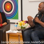 10/05/2015 NYC - bell hooks and Theaster Gates. Photo by Javier Soriano/http://www.JavierSoriano.com/