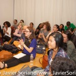 10/05/2015 NYC - People attending the conversation between bell hooks, Theaster Gates and Laurie Anderson. Photo by Javier Soriano/http://www.JavierSoriano.com/