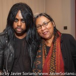 10/05/2015 NYC - Left to right: Lamar and bell hooks.   Photo by Javier Soriano/http://www.JavierSoriano.com/