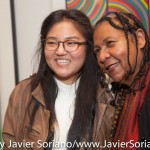 10/05/2015 NYC - bell hooks and a young woman who attended the conversation between bell, Theaster Gates and Laurie Anderson.   Photo by Javier Soriano/http://www.JavierSoriano.com/