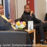 10/06/2015 NYC. The New School - bell hooks + Kevin Powell. Photo by Javier Soriano/http://www.JavierSoriano.com/