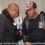 10/06/2015 NYC. The New School - Kevin Powell and a young Black man who attended the conversation between Kevin and bell hooks. Photo by Javier Soriano/http://www.JavierSoriano.com/