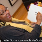 10/06/2015 NYC. The New School - bell hooks signing one her books.  Photo by Javier Soriano/http://www.JavierSoriano.com/