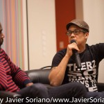 10/07/2015 NYC. The New School - Left to right, Darnell Moore + Marci Blackman. Photo by Javier Soriano/http://www.JavierSoriano.com/