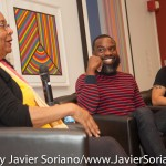 10/07/2015 NYC. The New School - Left to right, bell hooks + Darnell Moore + Marci Blackman. Photo by Javier Soriano/http://www.JavierSoriano.com/