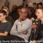 10/07/2015 NYC. The New School - People attending the conversation between bell hooks, Darnell Moore and Marci Blackman.   Photo by Javier Soriano/http://www.JavierSoriano.com/