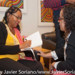 10/07/2015 NYC. The New School - bell hooks signing one her books.  Photo by Javier Soriano/http://www.JavierSoriano.com/