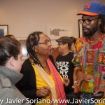 10/07/2015 NYC. The New School - bell hooks talking with a Black man who attended the conversation. Photo by Javier Soriano/http://www.JavierSoriano.com/