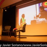 10/08/2015 NYC. The New School - Waiting for the conversation between bell hooks and Charles Blow.   Photo by Javier Soriano/http://www.JavierSoriano.com/
