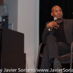 10/08/2015 NYC. The New School - Charles Blow in a conversation with bell hooks.  Photo by Javier Soriano/http://www.JavierSoriano.com/