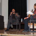 10/08/2015 NYC. The New School - bell hooks and Charles Blow. Photo by Javier Soriano/http://www.JavierSoriano.com/