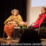 10/09/2015 NYC. The New School - Right to left: bell hooks + Beverly Guy-Sheftall.  Photo by Javier Soriano/http://www.JavierSoriano.com/