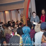10/09/2015 NYC. The New School - bell hooks signing books for people who attended the conversation between her and Beverly Guy-Sheftall.  Photo by Javier Soriano/http://www.JavierSoriano.com/