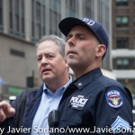 10/24/2015 NYC -  NYPD Police officers during the protest against police brutality in the United States of America.  Photo by Javier Soriano/http://www.JavierSoriano.com/