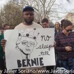 March 31, 2016. Bronx, New York City - Bernie Sanders supporters.  Photo by Javier Soriano/http://www.JavierSoriano.com/