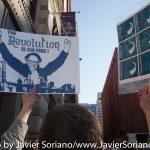 Wednesday, April 13, 2016. Washington Square Park. Manhattan, NYC - Bernie Sanders supporters.  Photo by Javier Soriano/http://www.JavierSoriano.com/
