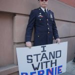 Wednesday, April 13, 2016. Washington Square Park. Manhattan, NYC - Captain Ray Lewis, a Bernie Sanders supporter.  Photo by Javier Soriano/http://www.JavierSoriano.com/